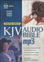 KJV Complete Bible, Voice-Only Edition on MP3--3 CDs   -              Narrated By: Stephen Johnston                   By: Narrated by Stephen Johnston