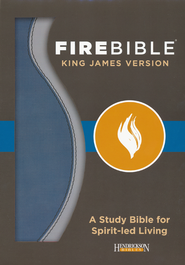 Fire Bible KJV version imitation leather, blue/charcoal   -