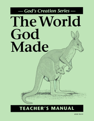 The World God Made, Teacher's Manual   -