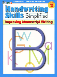 Handwriting Skills Simplified Level B: Improving Manuscript Writing  -