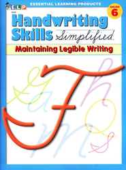 Handwriting Skills Simplified Level F: Maintaining   Manuscript Writing  -