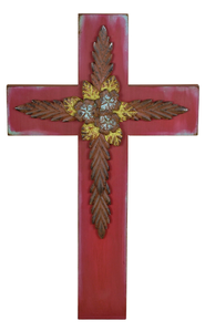 Wall Cross, Red  -