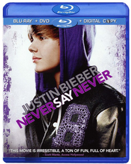 Justin Bieber: Never Say Never, Blu-ray   -