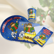 Happy Birthday Jesus Paper Tableware Set  -