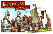 Jesus Heals and Helps Flash-a-Card Set (for use with Bible Adventures Primary Sunday School Curriculum)  -