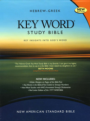 Key Word Study Bible NASB (2008 new edition), Bonded Burgundy Leather  -