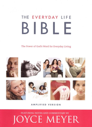 Joyce Meyers' Everyday Life Bible Bonded Leather, Burgundy   -     Edited By: Joyce Meyer     By: Joyce Meyer