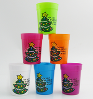 Light of Jesus Plastic Cup, Assorted Colors, 1 Dozen   -