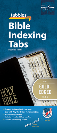 Bible Tabs, Gold, Regular Size   -