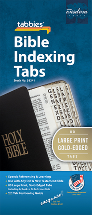 Bible Tabs, Gold Large  -