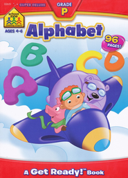 Alphabet Super Deluxe Workbook, Ages 4-6   -