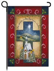 Christmas Cross Flag, Small  -              By: Annie LaPointe
