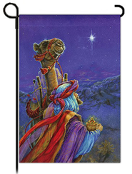 Wiseman and Camel Flag, Small  -     By: Donna Race