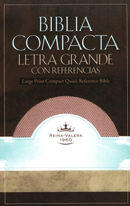 RVR 1960 Biblia Compacta Letra Grande con Referencias Imitation Leather Blush  -