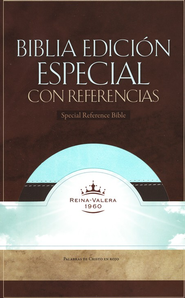 Biblia RVR 1960 Ed. Especial Ref., Piel Sim. Cafe/Verde Mar  (RVR 1960 Special Ref. Bible, Brown/Mint Green Sim. Leather)  -