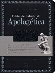 Biblia de Estudio Apologetica RVR 1960, Piel Imit. Negro  (RVR 1960 Apologetics Study Bible, Imit. Leather Black)  -