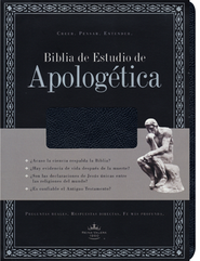 Biblia de Estudio Apologetica RVR 1960, Piel Fab. Negro Ind.   (RVR 1960 Apologetics Study Bible, Bon. Leather Black Ind.)  -