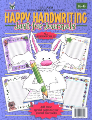 Happy Handwriting Just for Journals, Gr. K-6   -