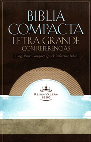 RVR 1960 Biblia Compacta Letra Grande con Referencias, White Gold Imitation Leather  -
