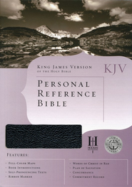 KJV Personal Reference Bible, Black Bonded Leather  -