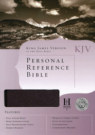 KJV Personal Reference Bible, Burgundy Bonded Leather  -