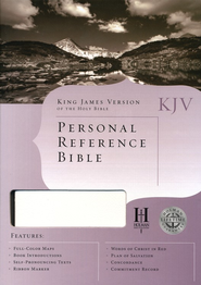 KJV Personal Reference Bible, White Bonded Leather  -