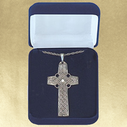 Celtic Cross, Sterling Silver Pendant  -