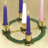 Christmas Holly Advent Wreath   -