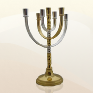 Silver & Gold Plated Menorah  -