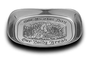 Give Us This Day Our Daily Bread, Metal Bread Tray  -
