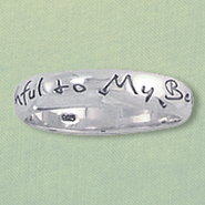 Faithful to My Beloved Ring, Sterling Silver, Size 8  -