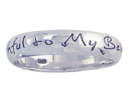 Faithful to My Beloved Ring, Sterling Silver, Size 9  -