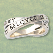 I am My Beloveds Medieval Ring, Sterling Silver, Size 8  -
