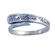 Pure Love Waits Wrap Ring, Sterling Silver, Size 8  -