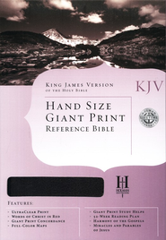 KJV Hand Size Giant Print Reference Bible, Burgundy Bonded Leather  -