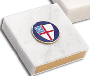 Episcopal Shield Paperweight  -