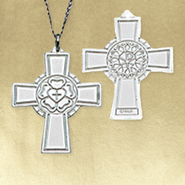 Luther Rose Pectoral Cross - Sterling Silver  -