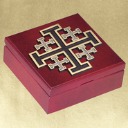 New Jerusalem Cross Keepsake Box  -