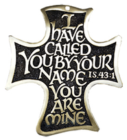 I Have Called You By Your Name, Bronze Cross With Brass Plating  -