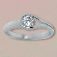 His Arms of Love Surround You Sterling Silver Ring, Size 5  -
