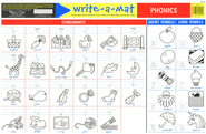 Melissa & Doug Phonics Write-a-Mat    -