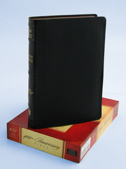KJV 400th Anniversary Bible, Black Genuine Cowhide Leather  -