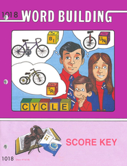 Word Building PACE SCORE Key 1018, Grade 2   -