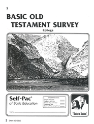 Old Testament Survey PACE 3, Grades 9-12   -