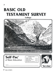 Old Testament Survey PACE 7, Grades 9-12   -