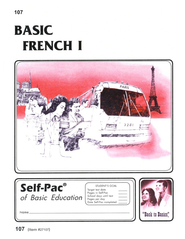 French Self-Pac 107, Grades 9-12  - Slightly Imperfect  -