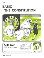 The Constitution Self-Pac 135, Grades 9-12  - Slightly Imperfect  -