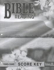 Bible Reading PACE SCORE Key 1043-1045, Grade 4   -