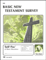 New Testament Survey Self-Pac 103, Grades 9-12   -