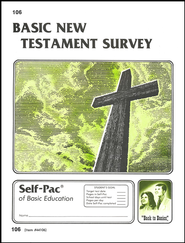 New Testament Survey Self-Pac 106, Grades 9-12   -